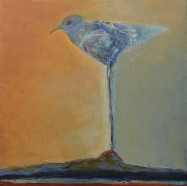 A Yardbird, 12_ x12_, Oil on Canvas