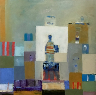 _who Will Wear the Crown_, 36_ x 36_, Oi