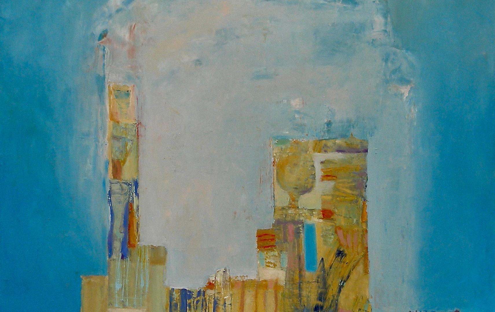 "Moon Morning, 36"" x 32"", Oil on Canvas"