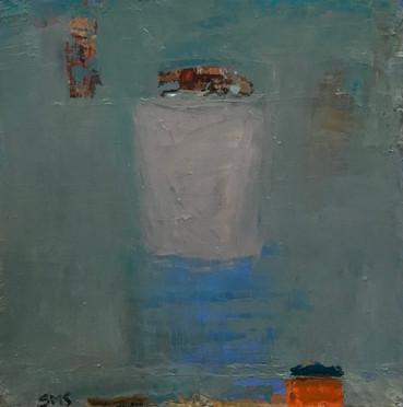 On A Pedestal, 12_ x 12_, Oil on Canvas.