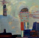 "A Leg Up, 30"" x 30"", Oil on Canvas"