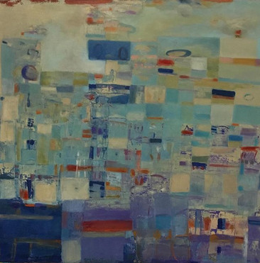 """#Light Noise #36"""" x 36"""" #Re-done # Oil o"""