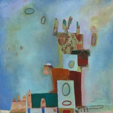 "#Jugglers #30"" x 30"" #Oil on Canvas #Pai"