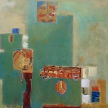 Magic Bus, 36_ x 36_ Oil on Canvas
