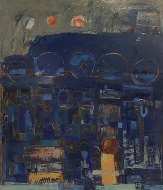 """#No Required Reading #44"""" x 38"""" #Oil on"""