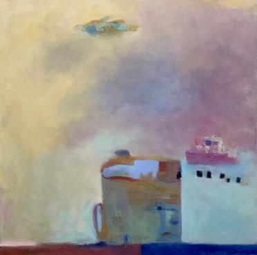 "Sea Journey, 20"" x 20"" Oil on Canvas"