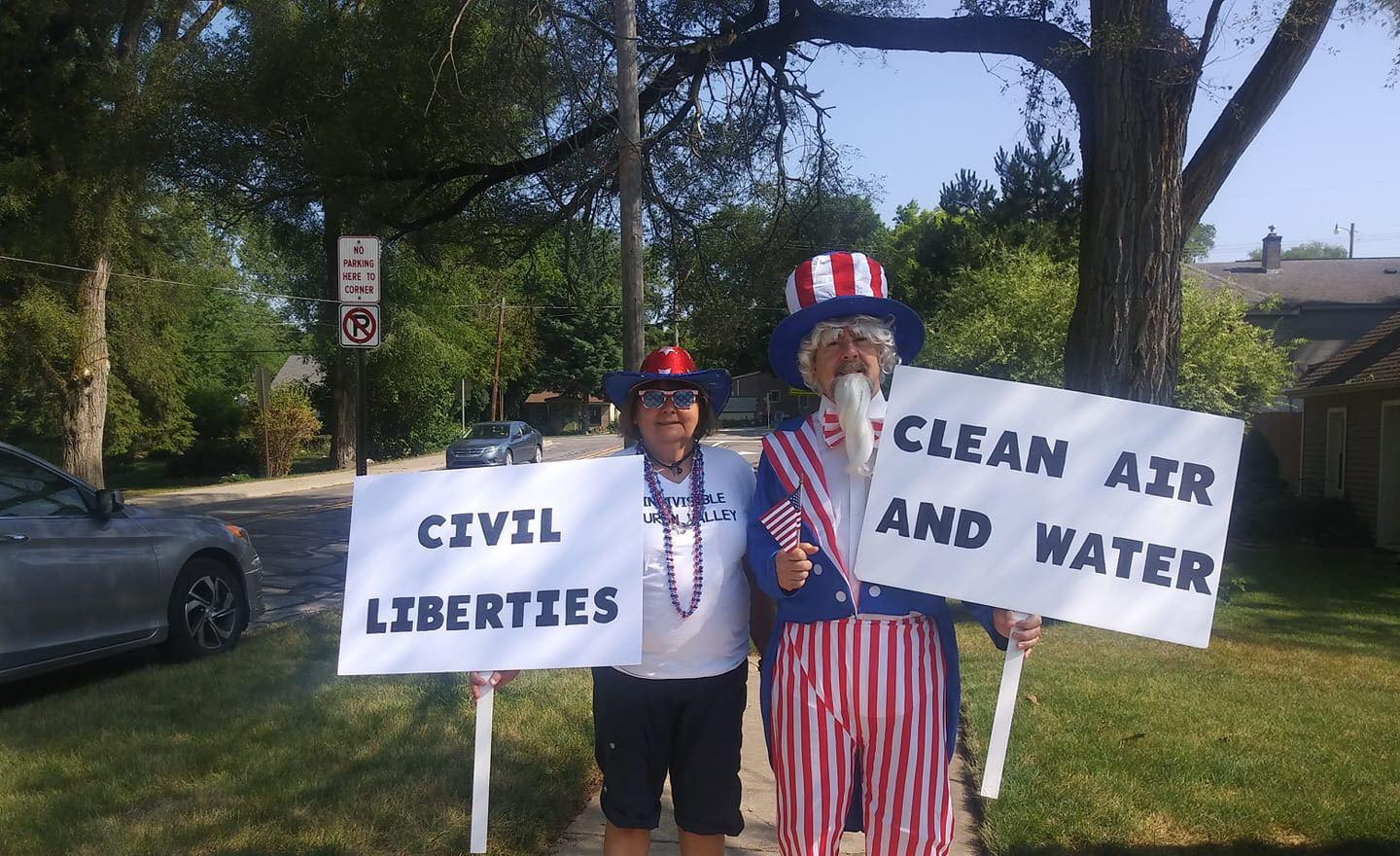 Uncle Sam and Vickie