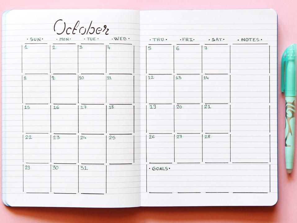 Mise en page mensuelle