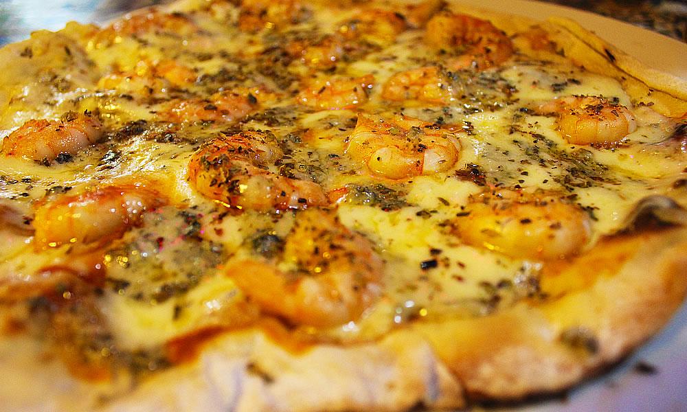 Pizza de Camarão da Merenderia