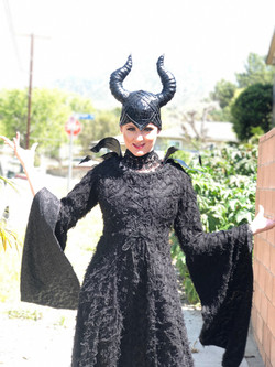 Maleficent character for parties