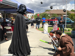Jedi ducking away from Darth Vader