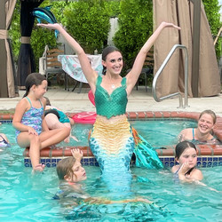 Swimming mermaid party character