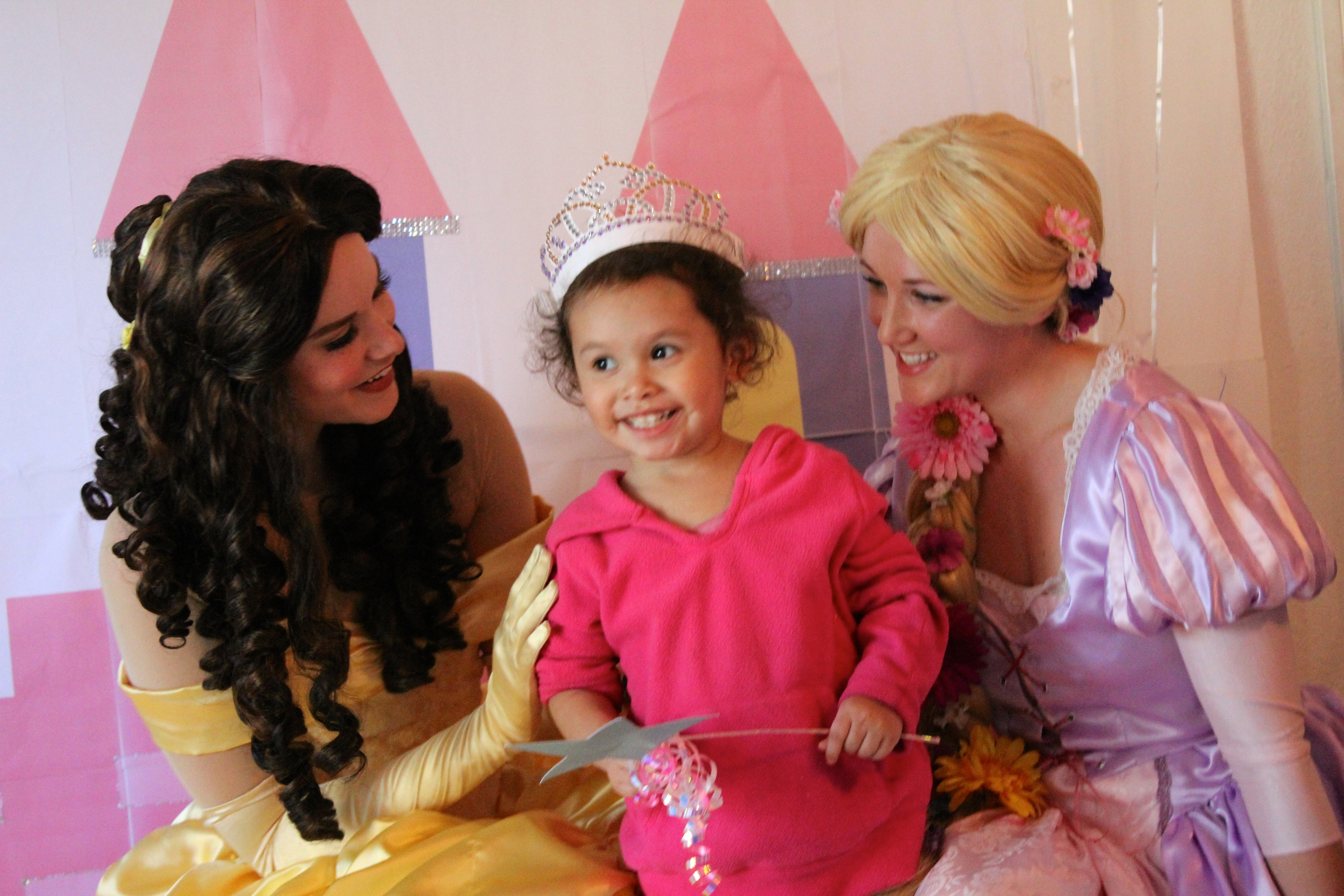 Beauty and Rapunzel at a Party