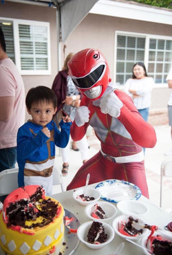 Power Ranger themed party