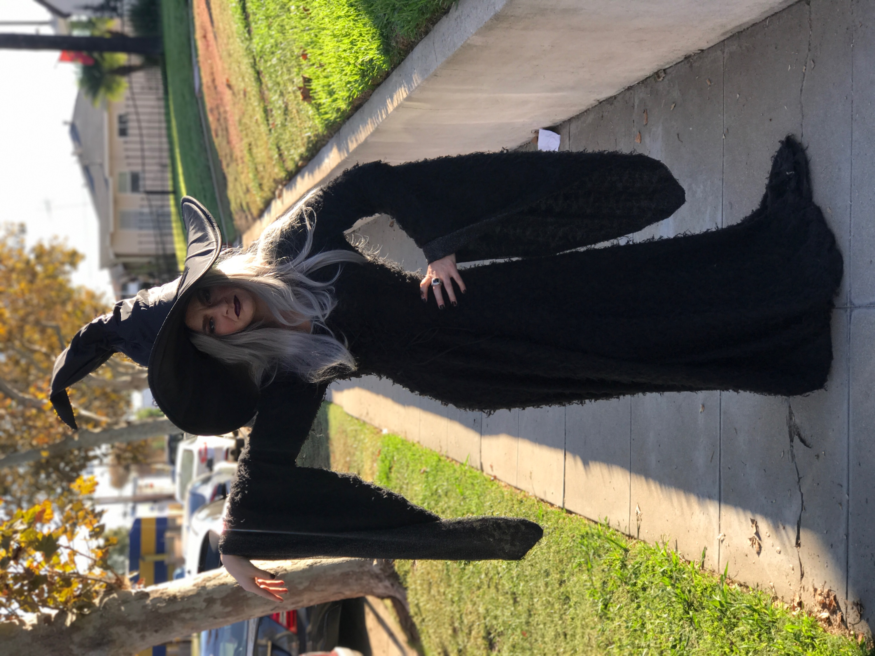 Witch character for halloween party