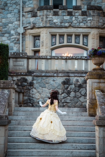 Belle character at her castle