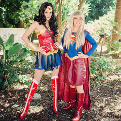 Wonder Woman and Supergirl for hire