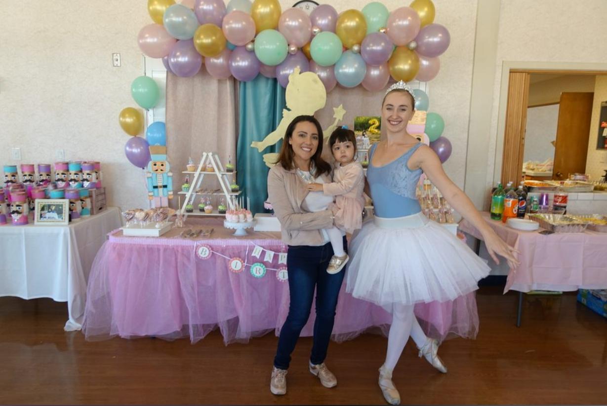 Ballerina themed birthday party