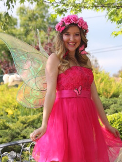 Pink Fairy Party Character