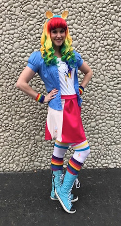 Rainbow Dash Party Character
