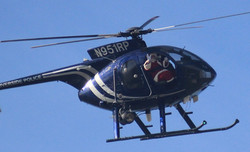 Santa Claus entrance in helicopter