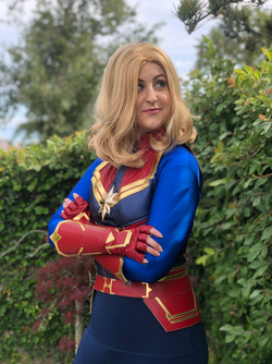 Captain Marvel character for party