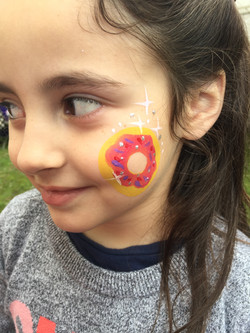 Shopkins themed face painting