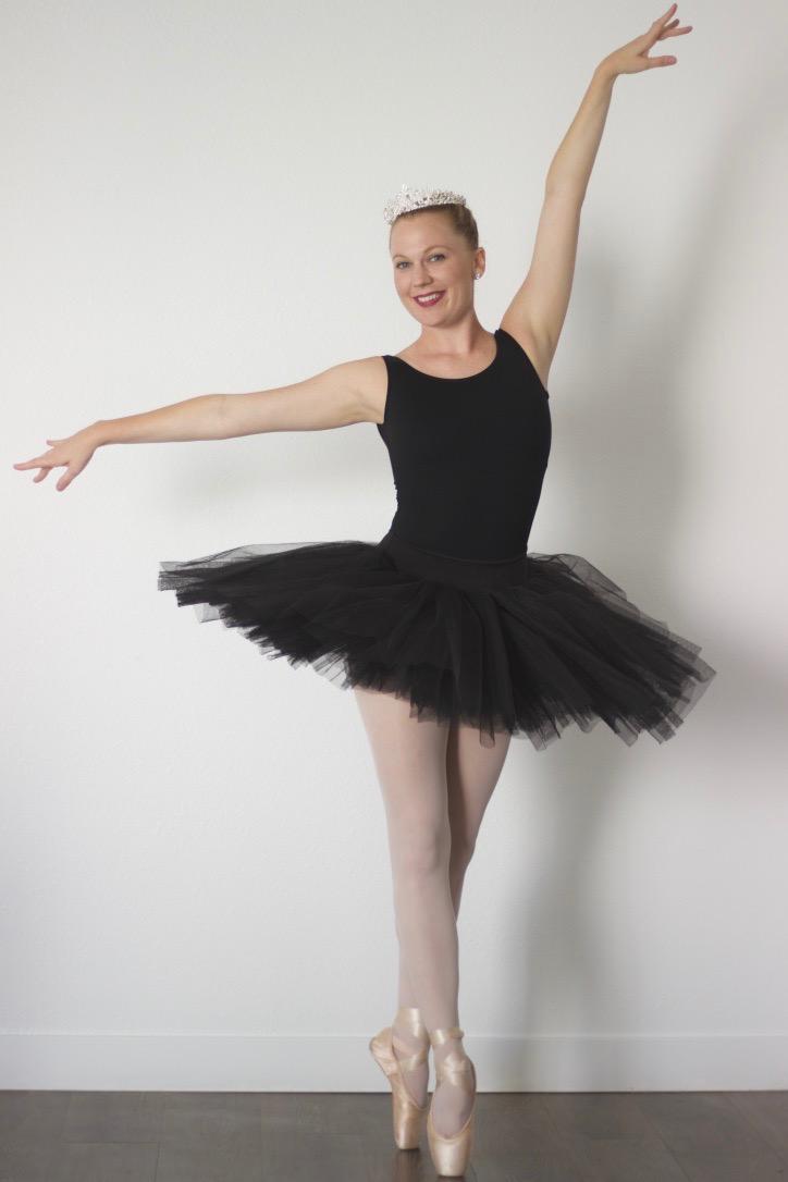 Ballerina in Black tutu and leotard