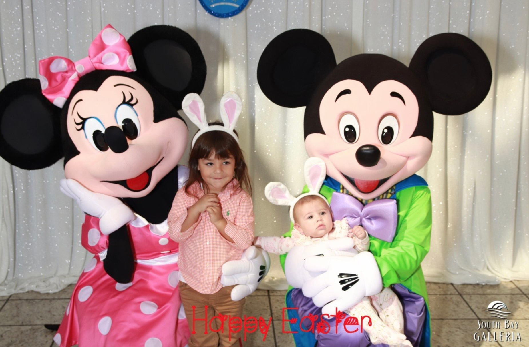 Easter themed Mickey and Minnie