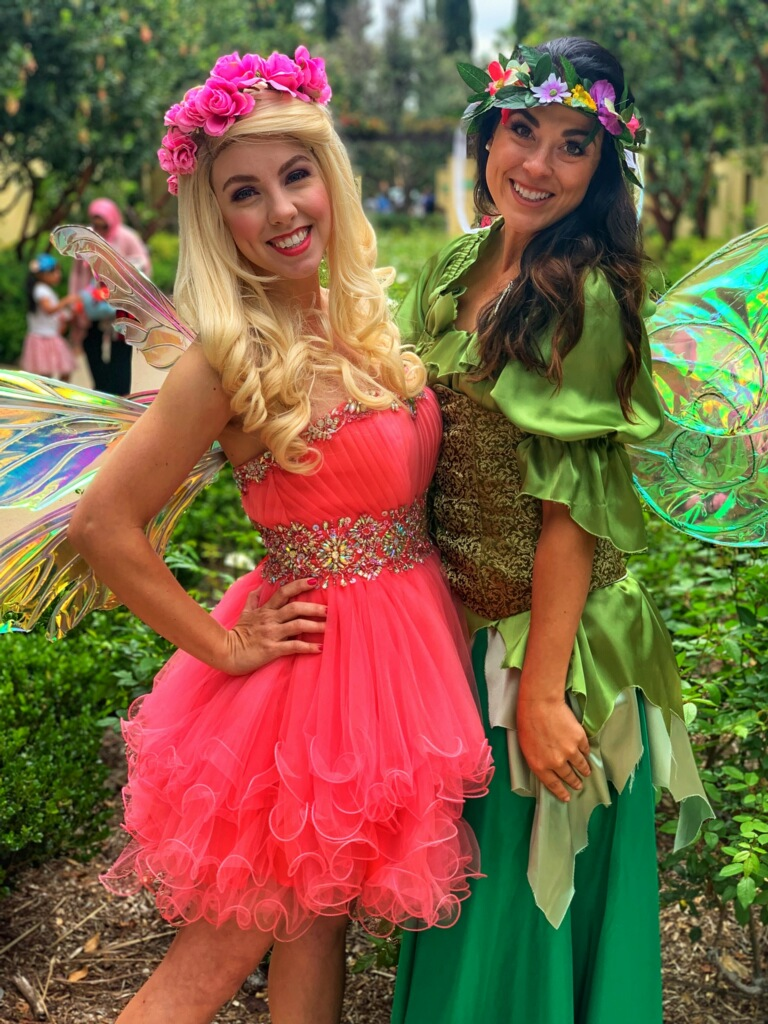 Fairy themed party hire fairies