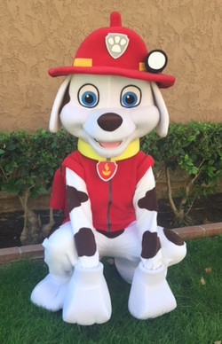 Marshall paw patrol party character