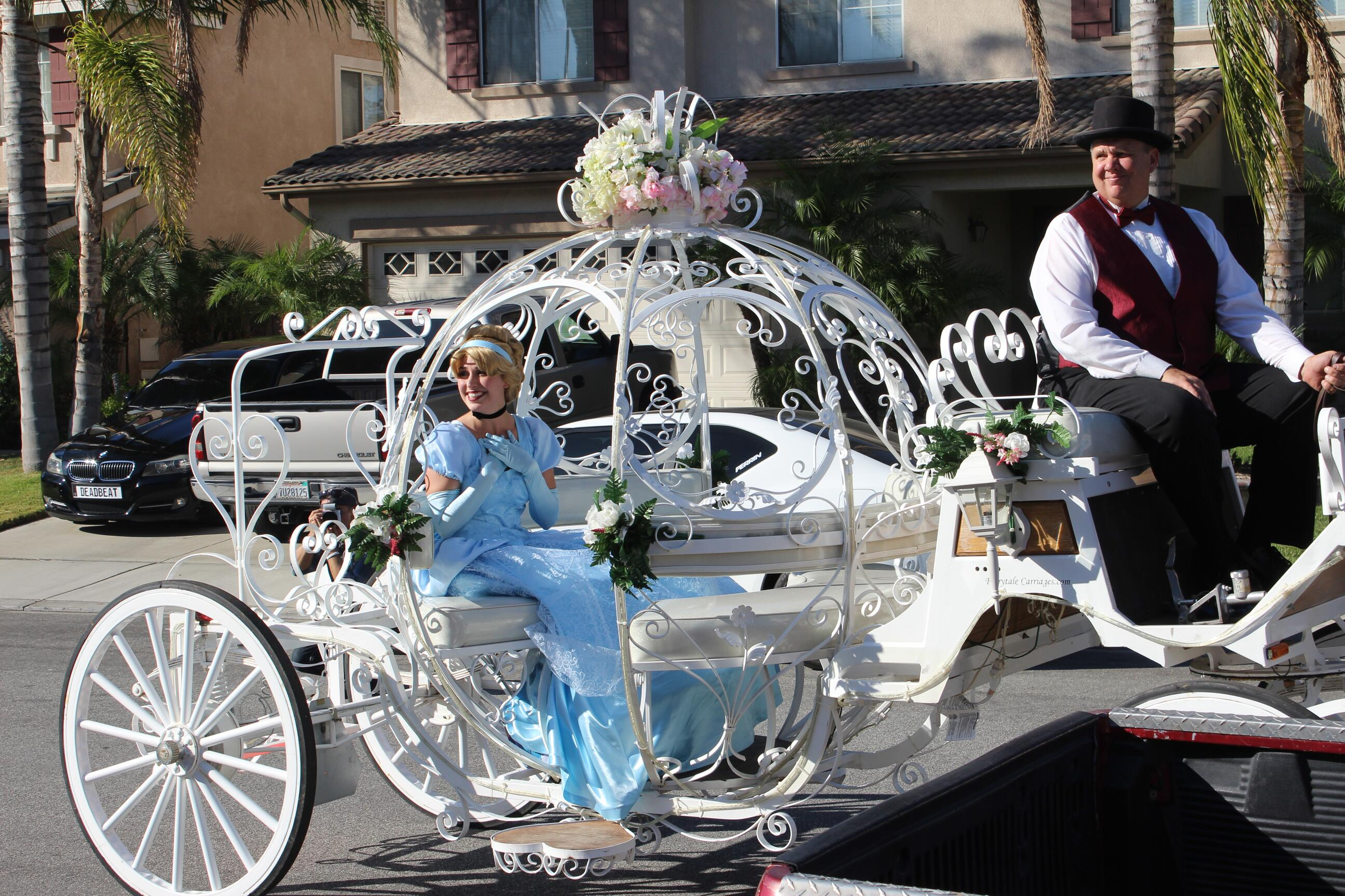 Cinderella Character in Carriage