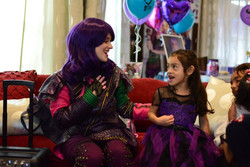 Mal Singing with Birthday Girl