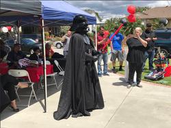 Darth Vader holding Red Light Saber