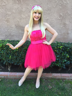 Barbie character for birthday party