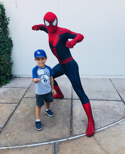 Spiderman with child