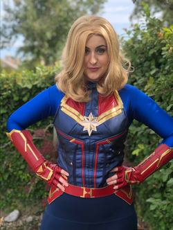 Capt Marvel character for party