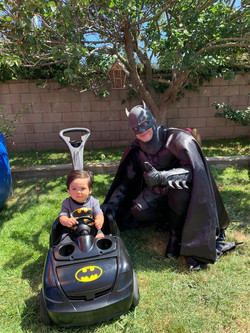 Batman at a birthday party