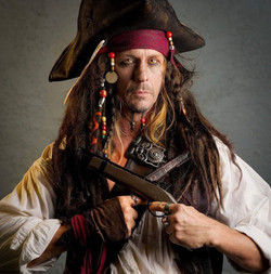 Pirate party Jack Sparrow character