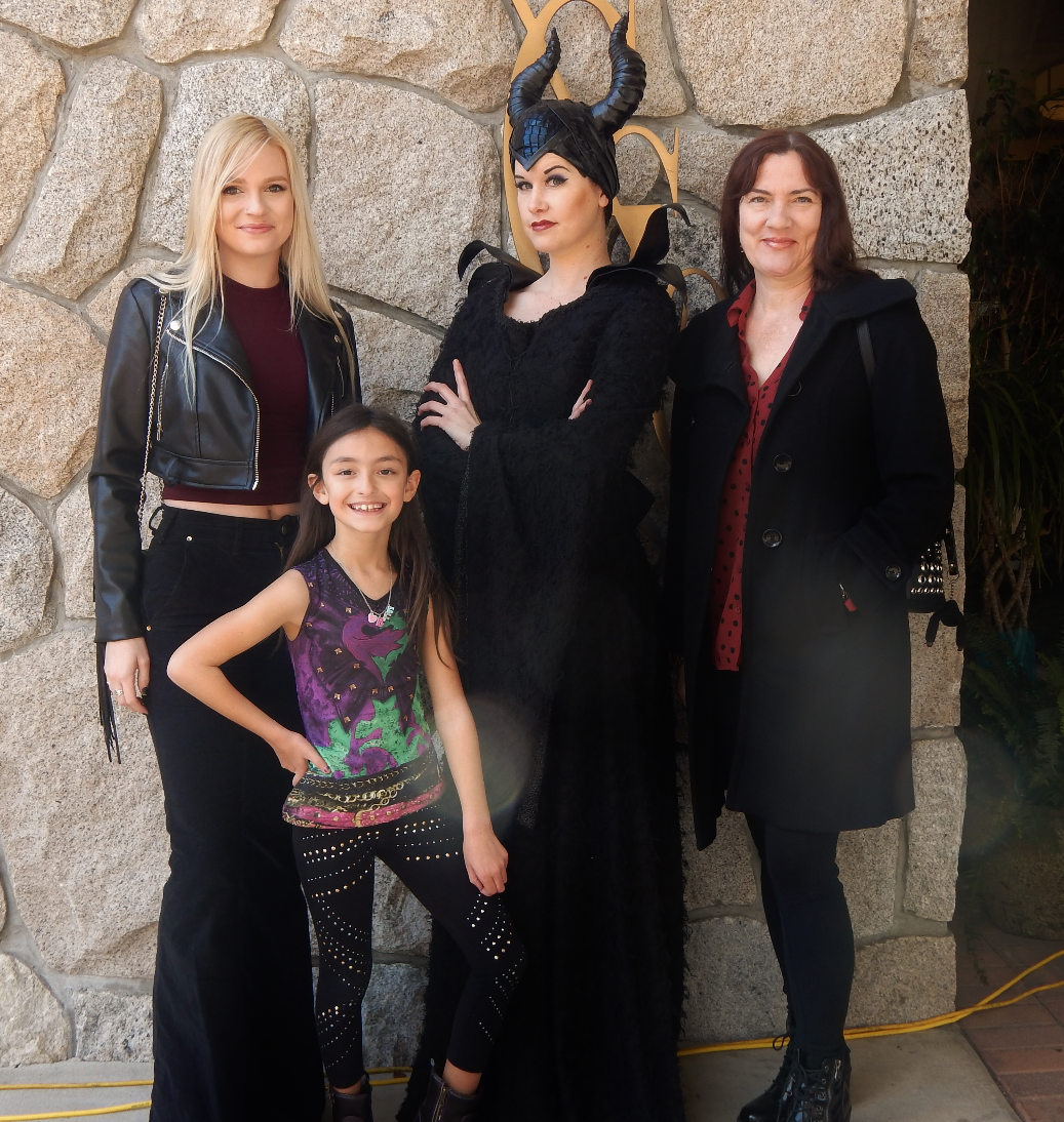 Maleficent birthday party character
