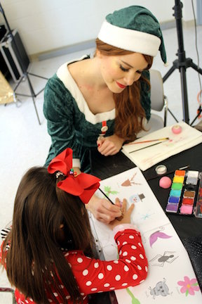 Elf character face painting for kids