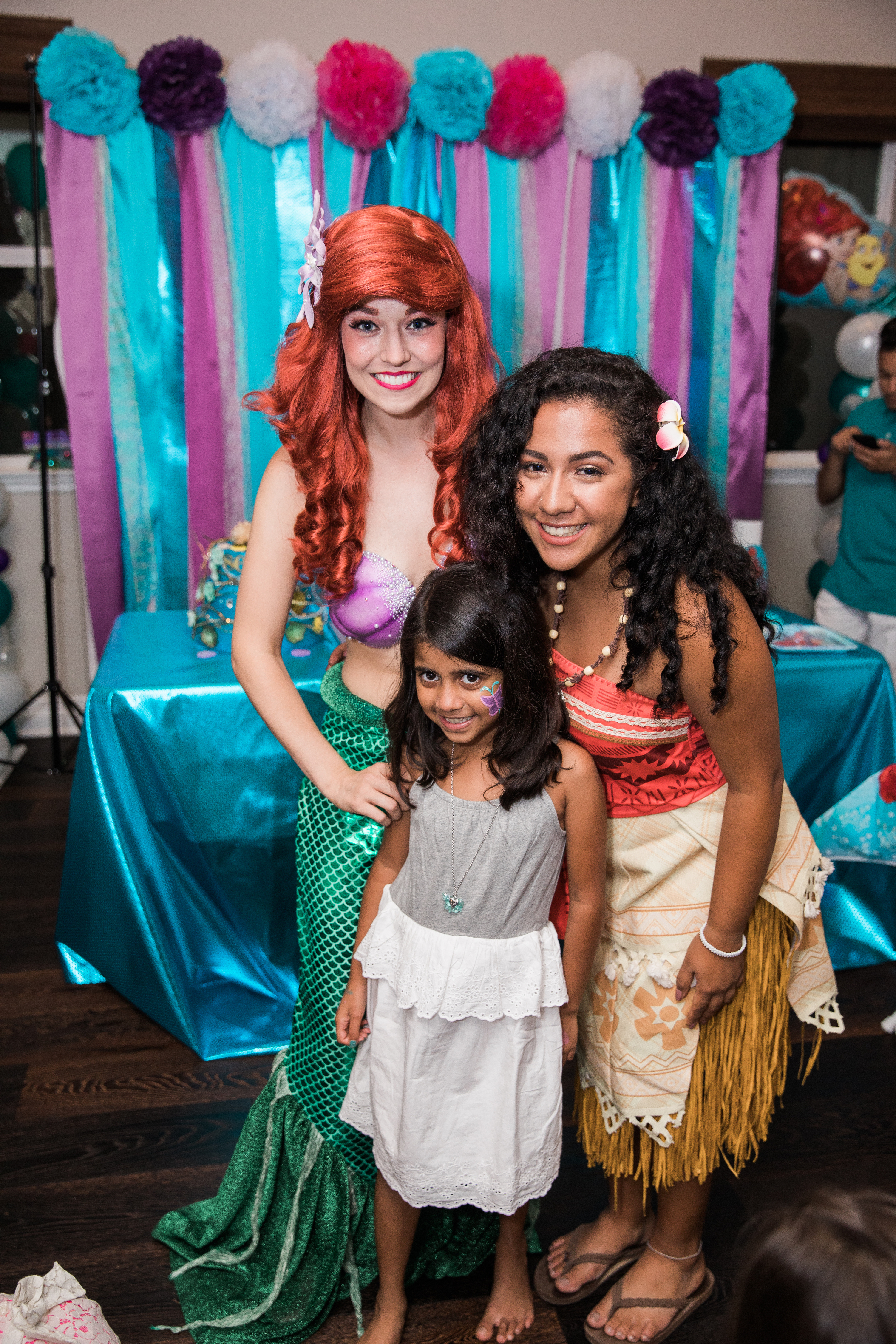 Ariel and Moana Party Characters