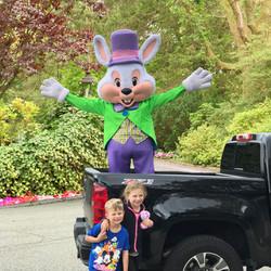 Easter Bunny Driveby
