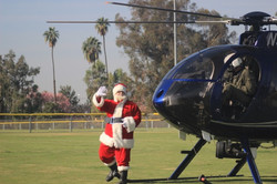 Santa Claus and Helicopter