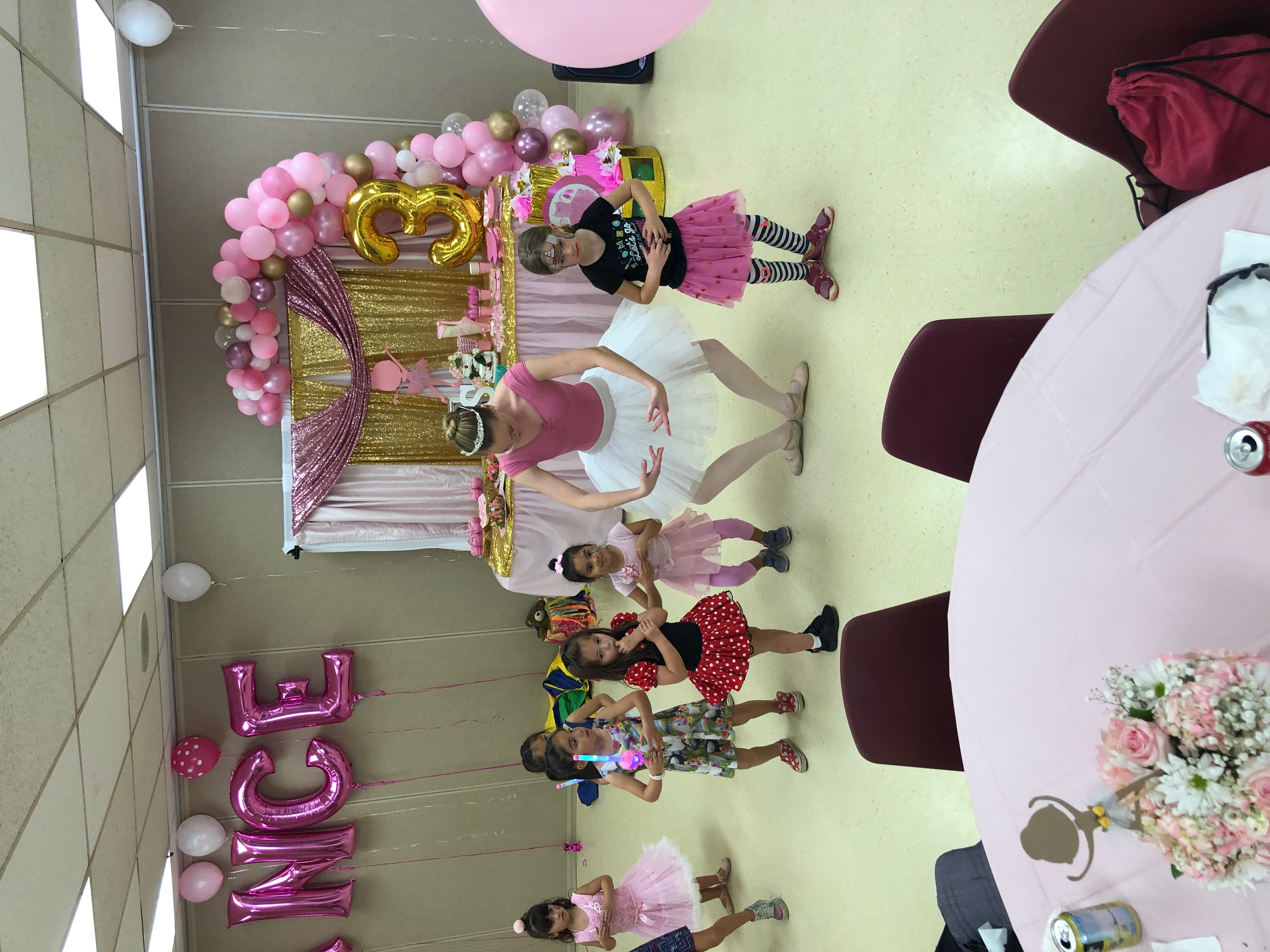 Ballet lesson birthday party