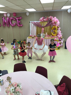Ballet lesson birthday party