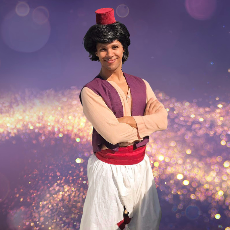 Aladdin party character for hire