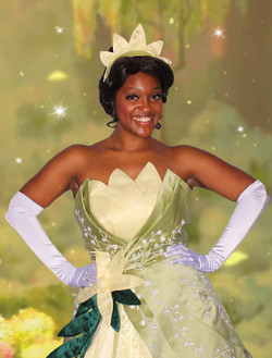 Tiana character for birthday party