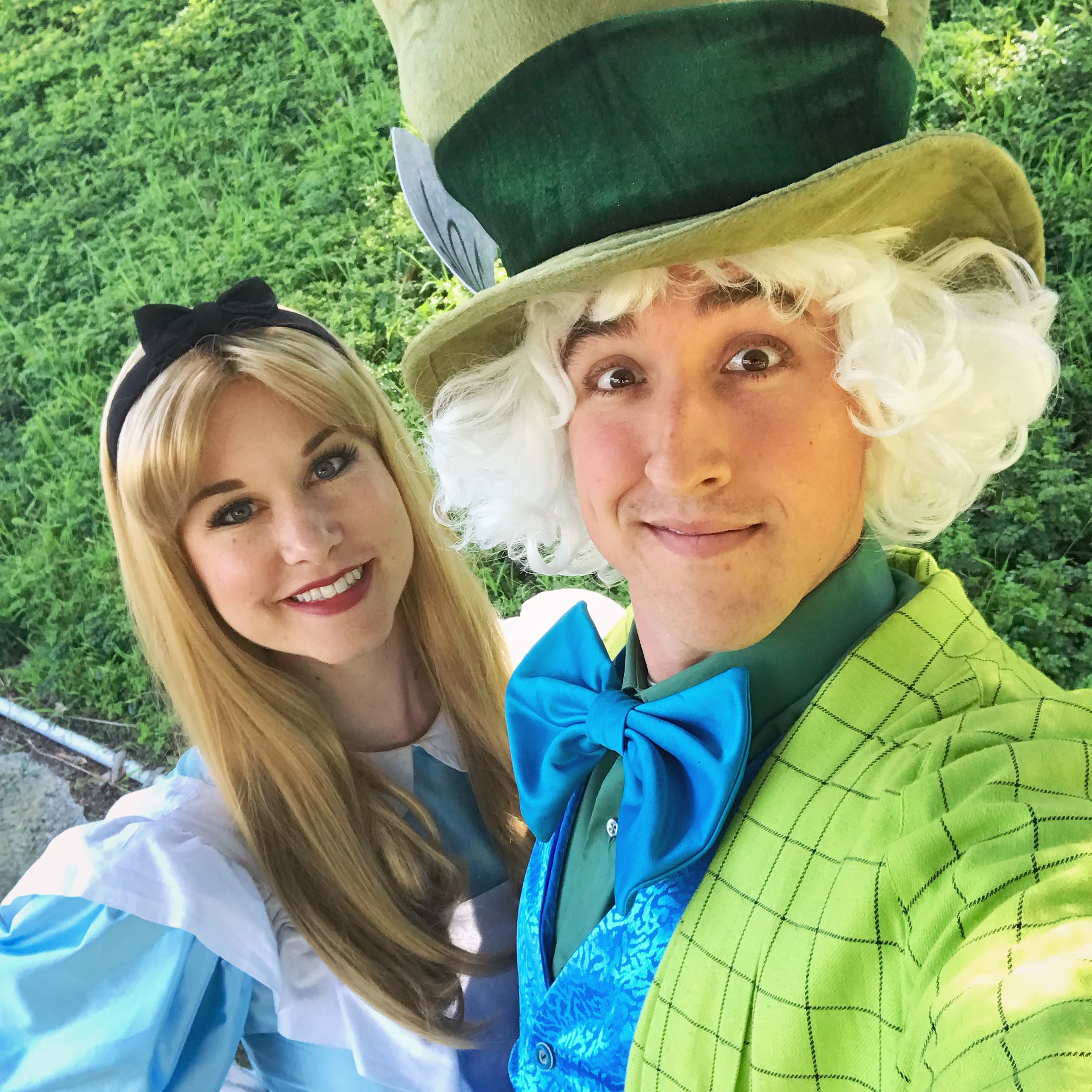 Mad Hatter and Alice for hire