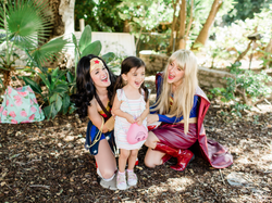 Wonder Woman and Supergirl for party
